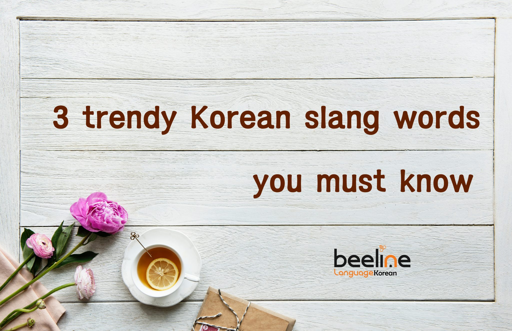 3 trendy Koreanslang words you must know