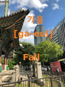 how to say fall in korean
