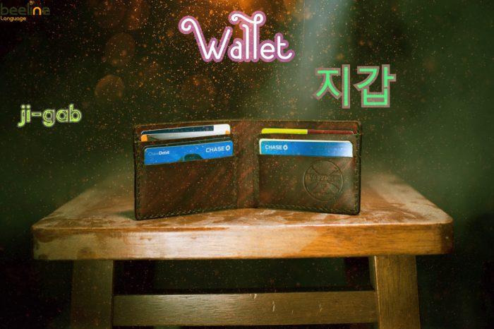 wallet in korean
