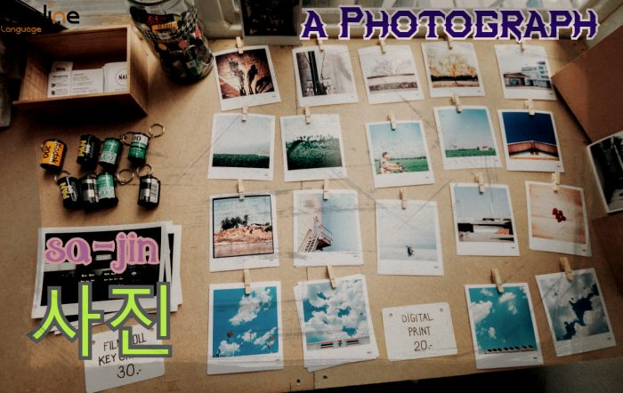 how to say a photograph in korean