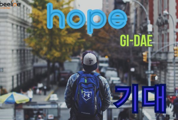 how to say hope in Korean