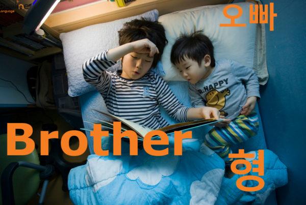 brother in korean
