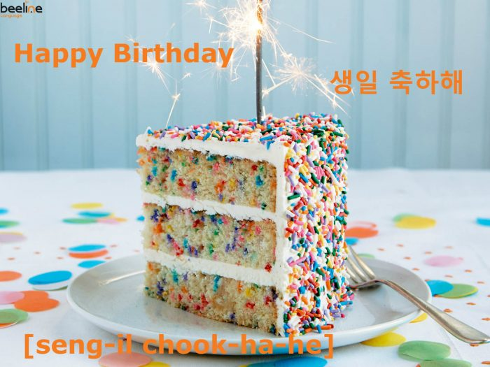 Video How To Say Happy Birthday In Korean Learn Korean With Beeline