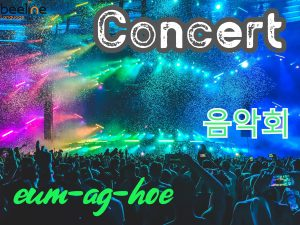 How To Say a Concert in Korean
