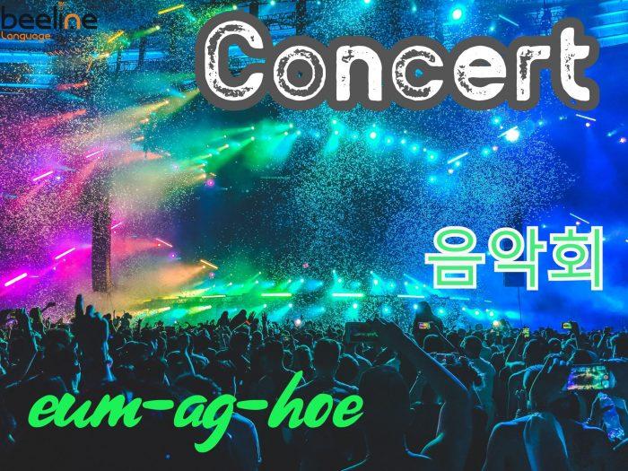 Concert in Korean