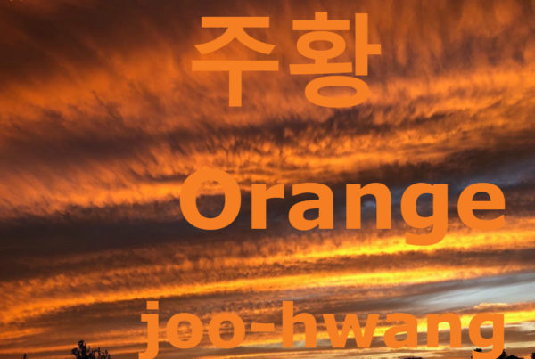 how to say orange in Korean