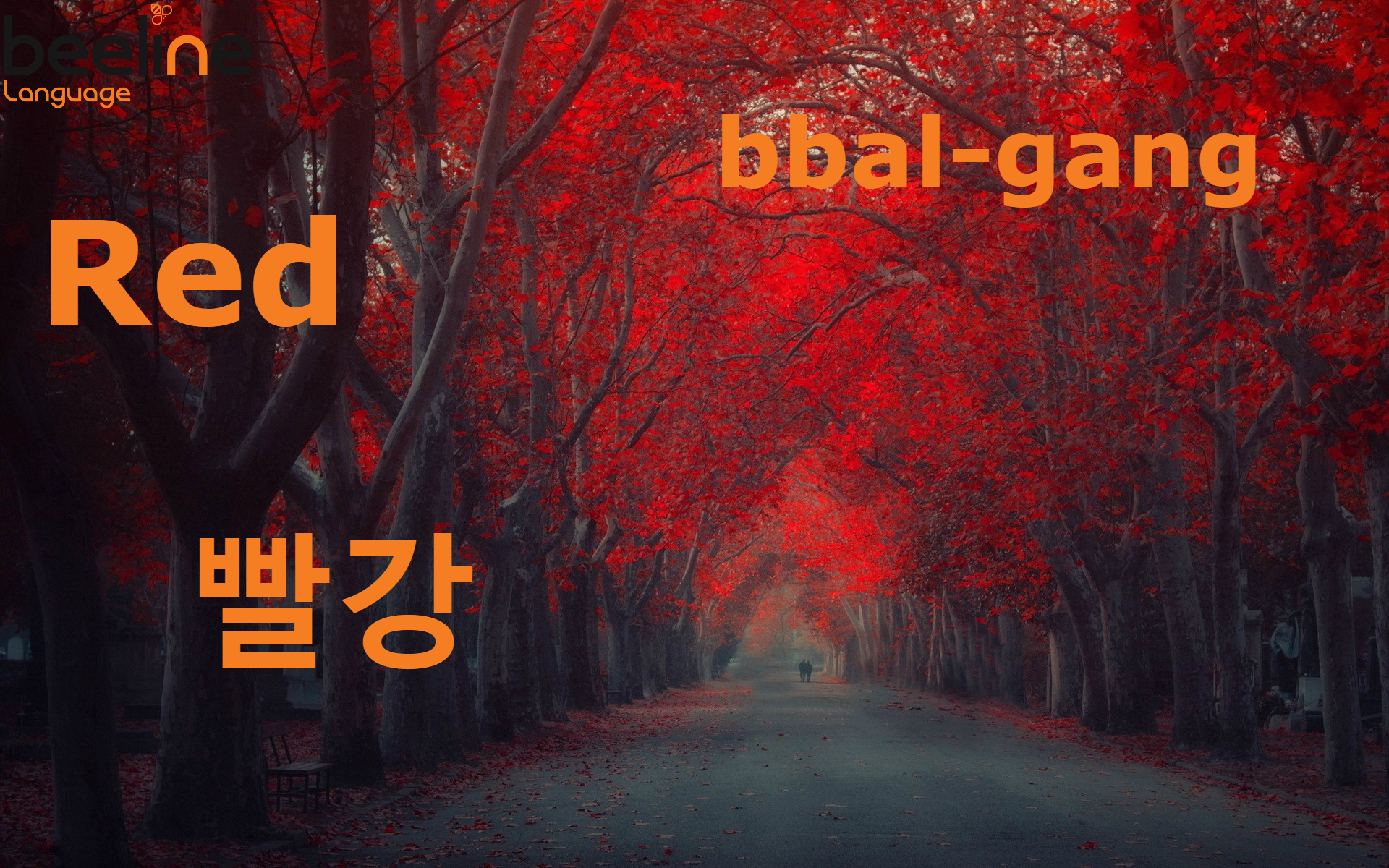 How to say red in korean