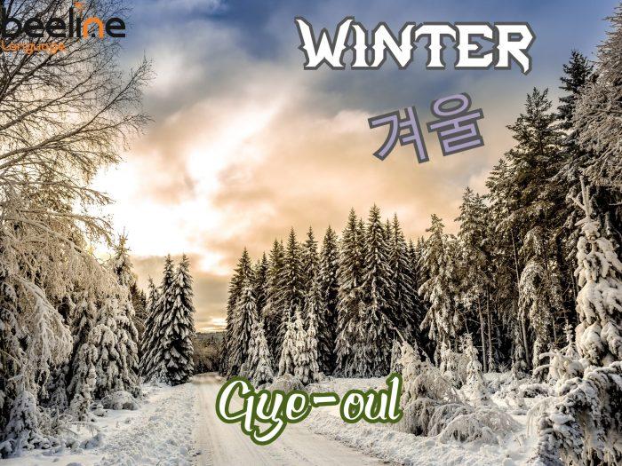 Winter in Korean